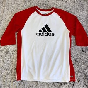 Adidas white and red athletic wear